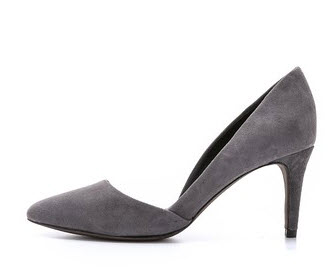 shopbop grey suede dorsay pumps