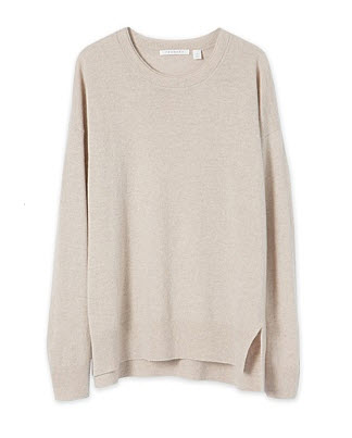 trenery knit taupe double collar
