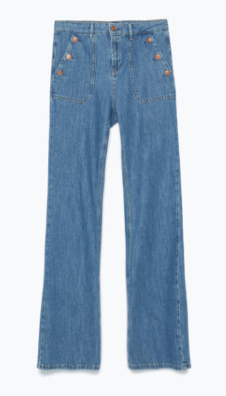 zara flares denim