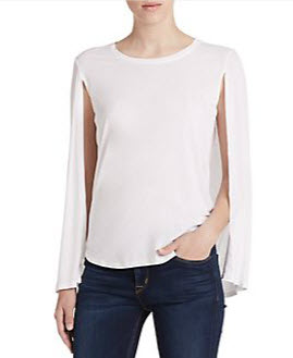 BCBG white cape top