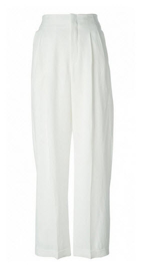 farfetch chloe white pants