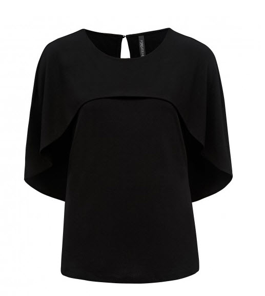 forever new blakc cape top