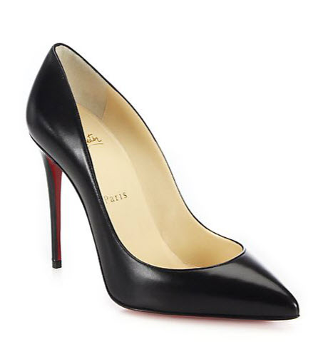 louboutin outrageous black heels