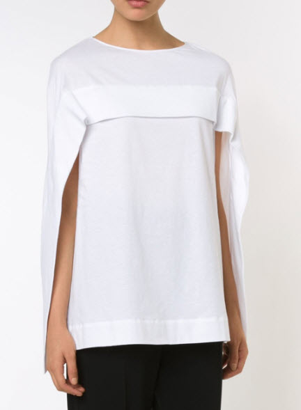 nastygal white cape top