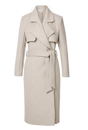 seed heritage taupe belted trench