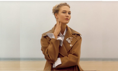 shoot of the week karlie camel coat