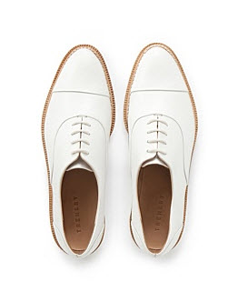 trenery white lace up brogues