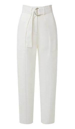 witchery white baggy belt pants