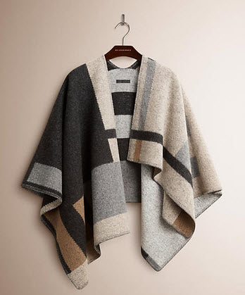 burberry  cape throw
