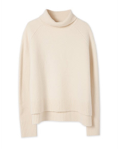 c road cream sweater poloneck