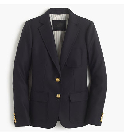 j crew navy single breasted blazer