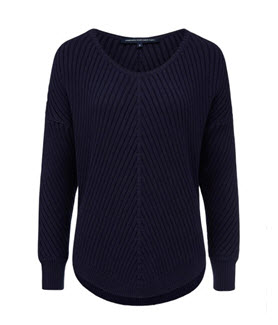 navy fcuk sweater