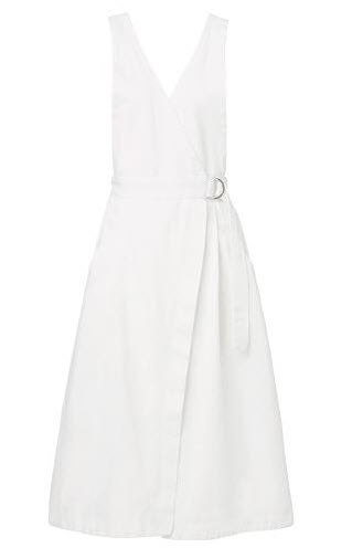 seed white wrap dress