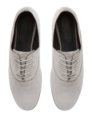 witchery grey suede laceups