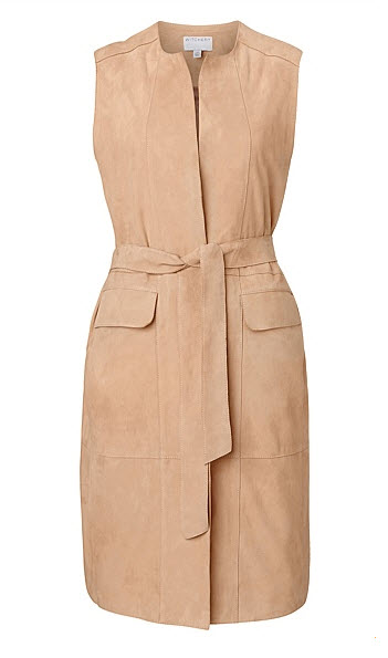 witchery suede belted vest