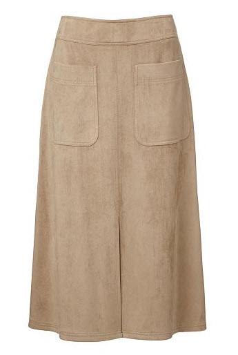seed suedette skirt