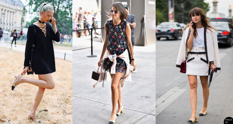 chanel pumps street style