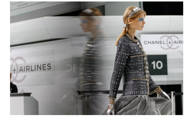 chanel show airlines