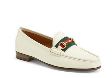 gucci white loafer