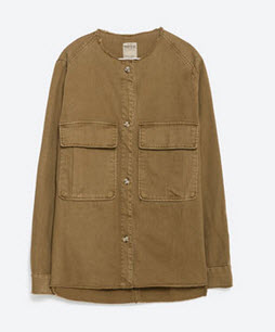 zara military shirt jacket