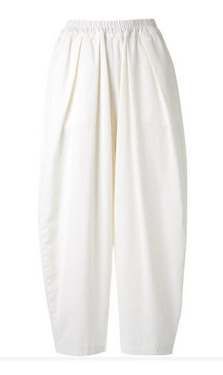 bassike white slouch pants