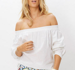 binny white of shoulder top