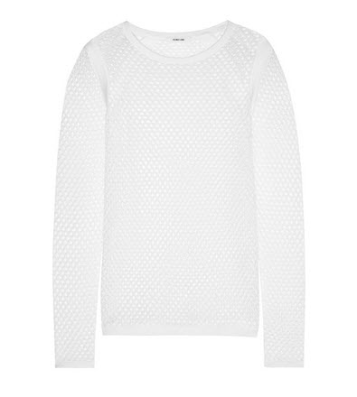 helmut lang outtnet white sweater