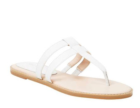 ninewest white t bar sandals