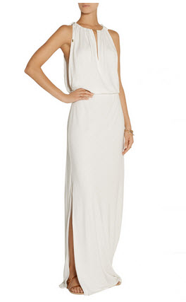 white dress long outnet
