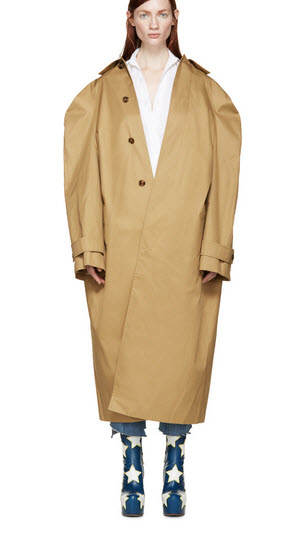 vetements ssense trench
