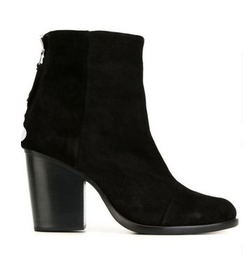 rag and bone boots blk suede
