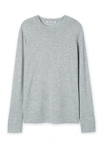 country road grey sweater