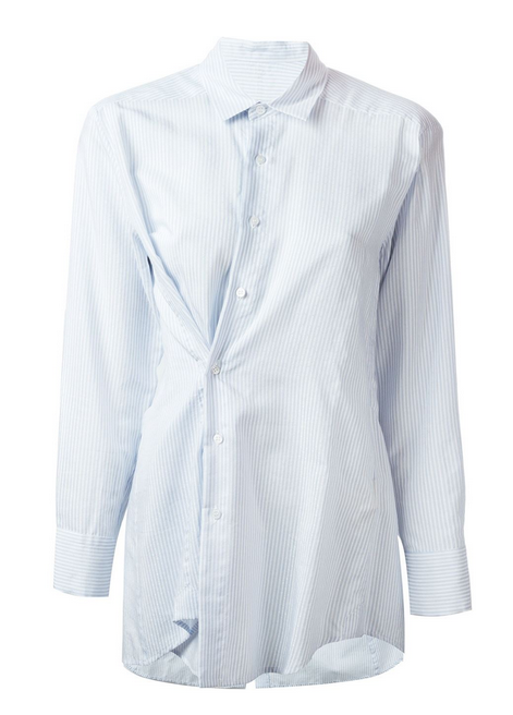farfetch jacquemas stripe shirt