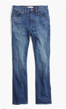 madewell flare frayed jeans