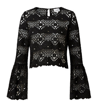 seed flare sleeve lace top