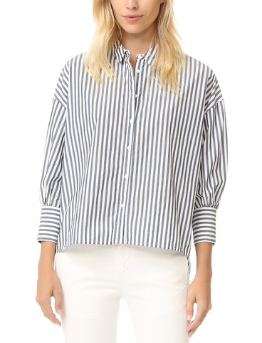 shopbop stripe shirt white jeans