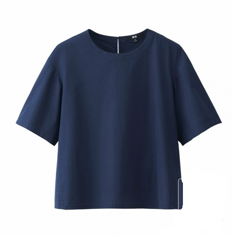 uniqlo-navy-top
