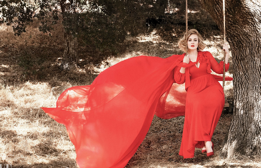 adele-red-on-a-swing