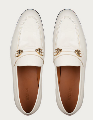 bally white loafers