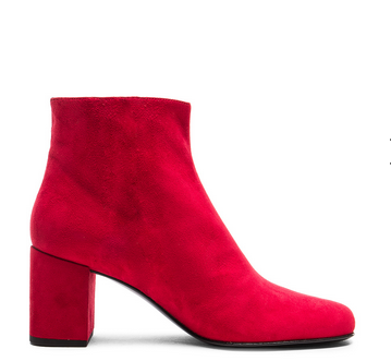 ysl red suede boots
