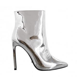 silver ankle boots tony bianco