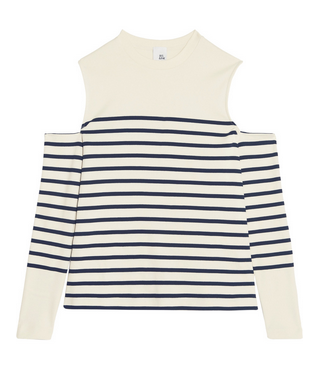 stripe cut out tee outnet