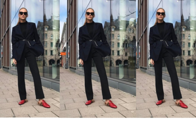 steal her style trousers suit red gucci