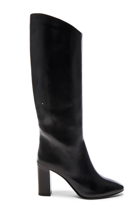 acne fwd black boots