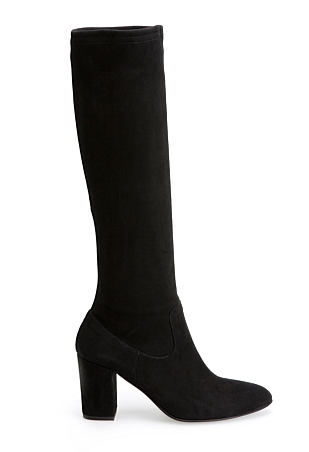 c road blk long boots