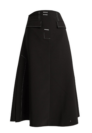 ellery black aline skirt