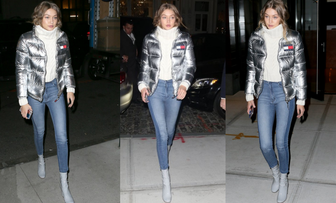 steal her style gigi silver puffa