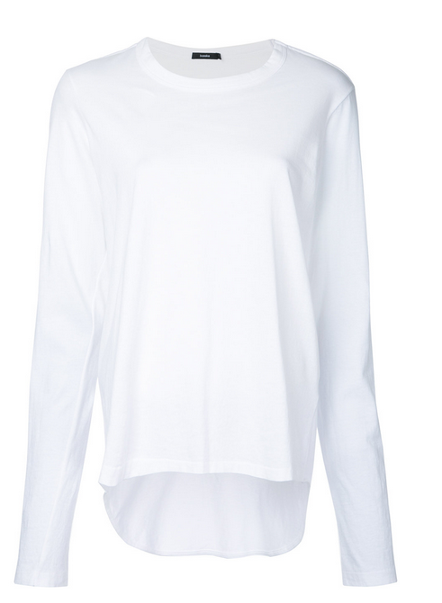 bassike white tee long sleeve