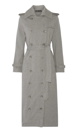 outnet grey trench coat