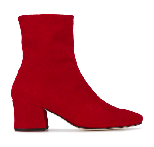 red suede boots farfetch